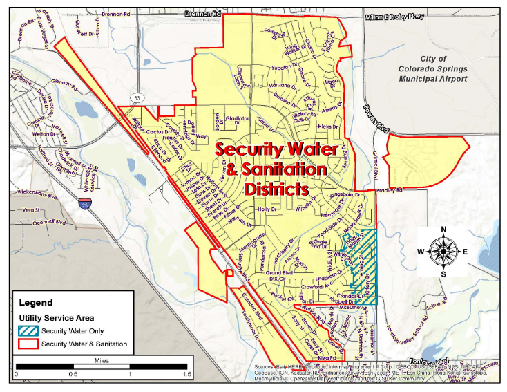 Service Area Map - Security Water and Sanitation District